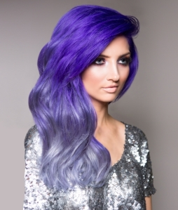 Purple ombre, Demi Lovato, ChromaSilk VIVIDS, haircolor how to | Beauty Launchpad