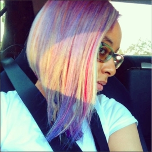 Raven Symone, Rainbow Hair Color, Pink Hair, Purple Hair How To, PRAVANA  | Beauty Launchpad