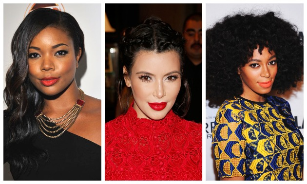 celebrities in matte lipstick